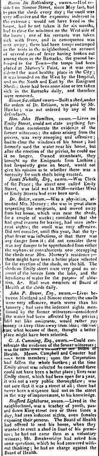 british whig 1847-10-06 complaint about sheds 1 nimby testimony