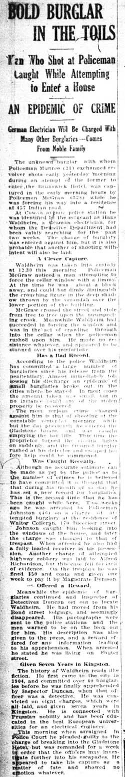 news 1911-04-28 bold burglar