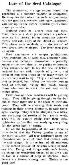 gm 1945-01-30 editorial lure of the seed catalogue