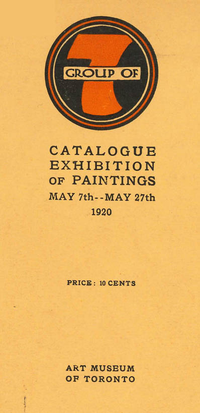 Group of Seven 1920 catalogue cover