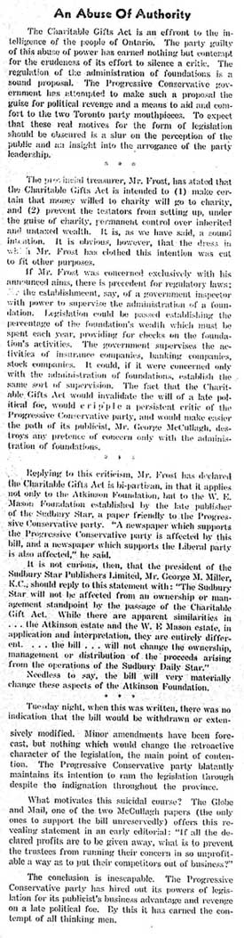newmarket era 1949-04-07 anti cga editorial