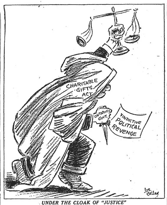 star 1949-04-02 charities bill editorial cartoon