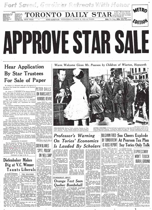 star 1958-03-26 front page