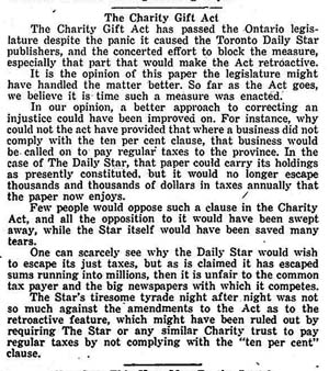 stouffville tribune 1949-04-07 pro cga editorial