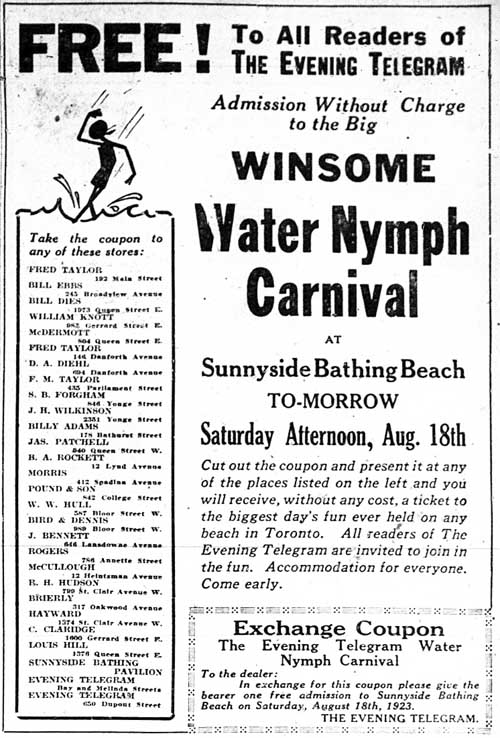 tely 1923-08-17 water nymph carnival ad 2