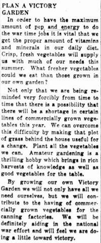 wtg 1943-04-08 editorial encouraging victory gardens