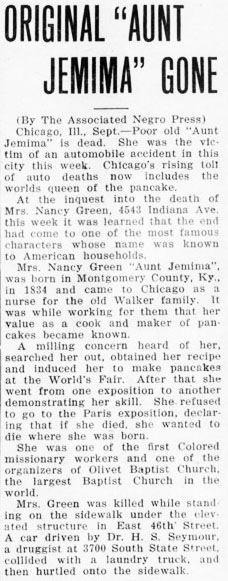 dawn of tommorow 1923-09-15 nancy green obit small