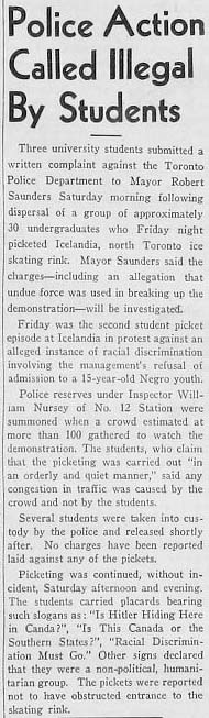 varsity 1945-11-26 police action called illegal by students small