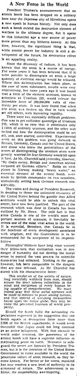 gm 1945-08-07 editorial