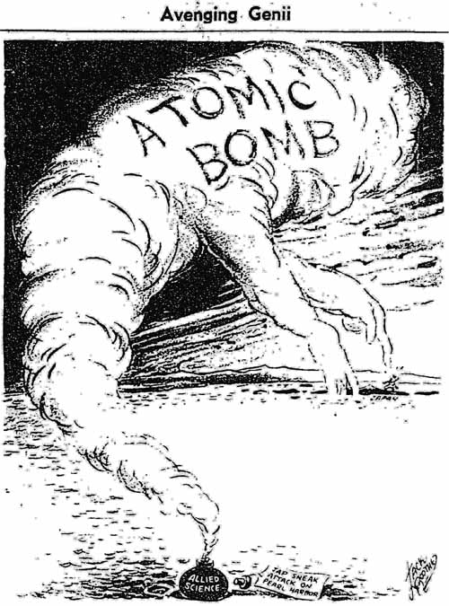 gm 1945-08-09 atom bomb editorial cartoon