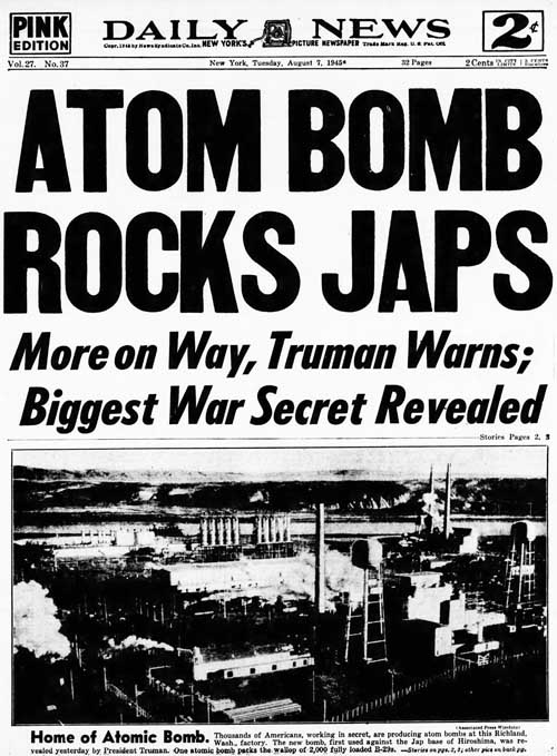 nydn 1945-08-07 front page