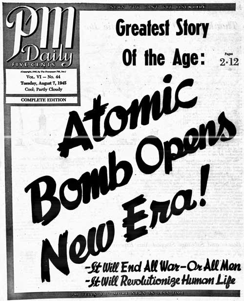 pm 1945-08-07 front page]