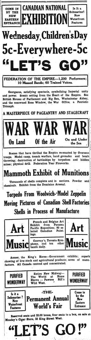 star 1916-08-29 children's day ad war war war