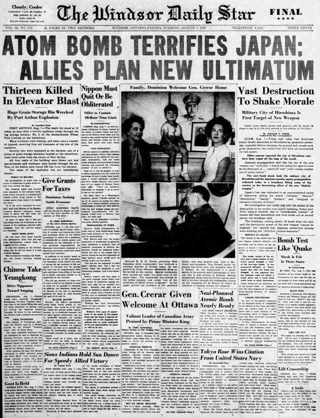 ws 1945-08-07 front page
